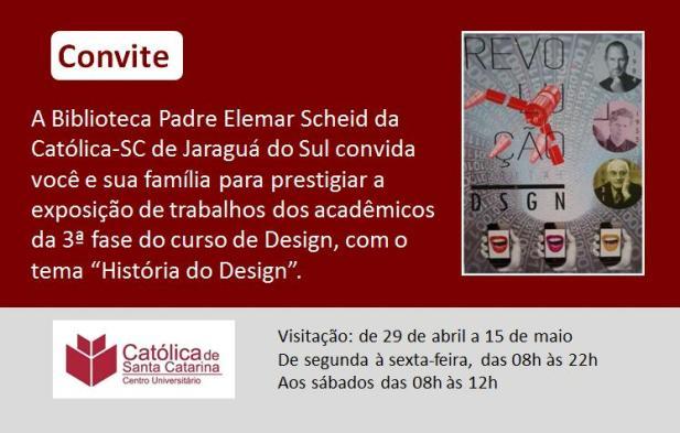 Convite exposição Design